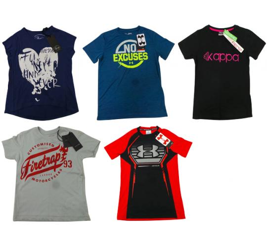 One Off Joblot of 16 Childrens T-Shirts - Firetrap, Under Armour & More