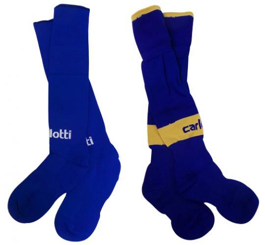 One Off Joblot of 47 Carlotti Mens & Boys Blue Football Socks 2 Styles