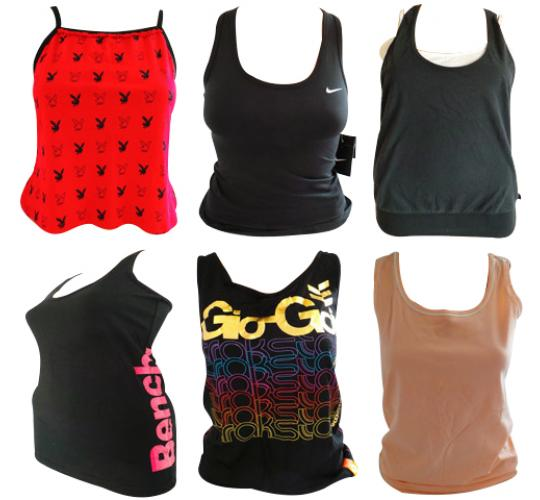 One Off Joblot of 22 Womens Mixed Vest Tops - Eastpak, Nike, Adidas & More