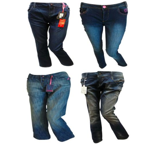 One Off Joblot of 11 Henleys Womens Jeans Mixed Styles Sizes 8-16