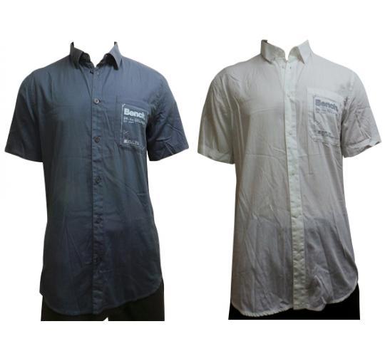 One Off Joblot of 17 Bench Mens Short Sleeve Relay Shirt Navy & White