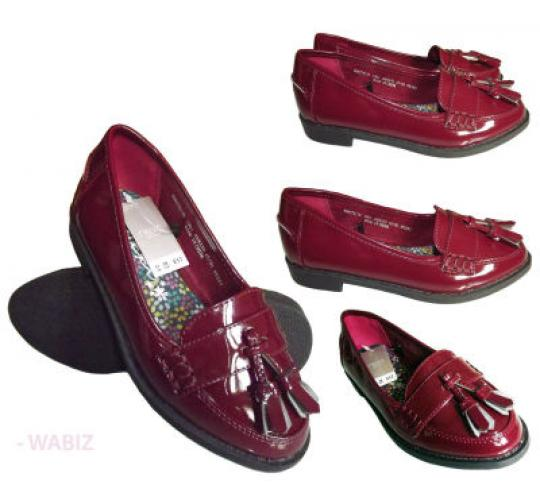 30 X  Top Brand Kids Girls Ladies Patent Tassel Loafers Wholesale/Joblot RRP