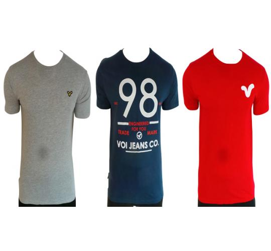 Wholesale Joblot of 10 Voi Jeans Mens T-Shirts Mixed Styles & Sizes