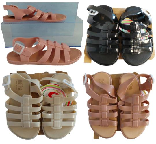 One Off Joblot of 61 Womens PU Sandals 4 Colours Sizes 3-7