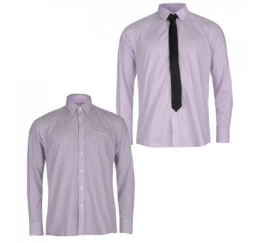 Pierre Cardin Long Sleeve Shirt and Tie 2 Pack x 26
