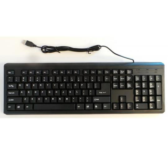 One Off Joblot 22 Black USB Keyboard For Computer