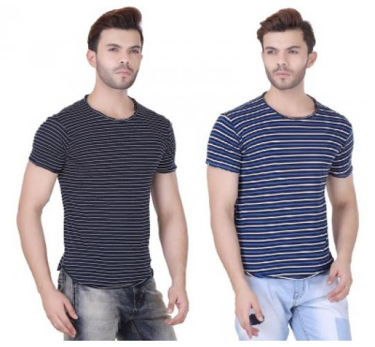 Men's Realm Striped T-Shirt x 20