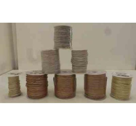 Joblot of 540m of Pearl/White Mixed Round Leather Cords 3 Shades 1mm Wide