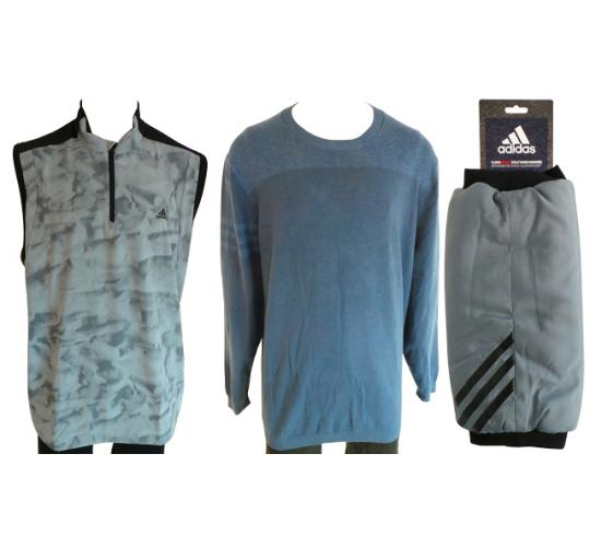 One Off Joblot of 4 Adidas Mens Golf Items - Sweaters, Vest Jacket & Handwarmer