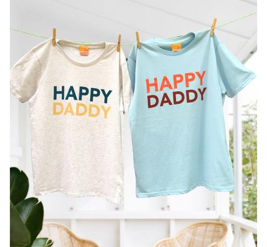 Happy Daddy Father's Day t-shirts 100% Cotton