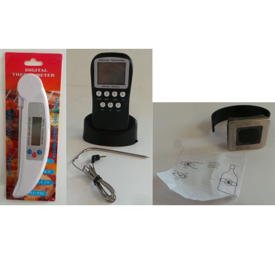 One Off Joblot of 33 Digital Thermometers 3 Styles - For Food & Wine