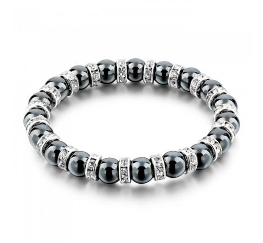 Wholesale Joblot of 10 Womens Black Stone And Cubic Zirconia Bracelets