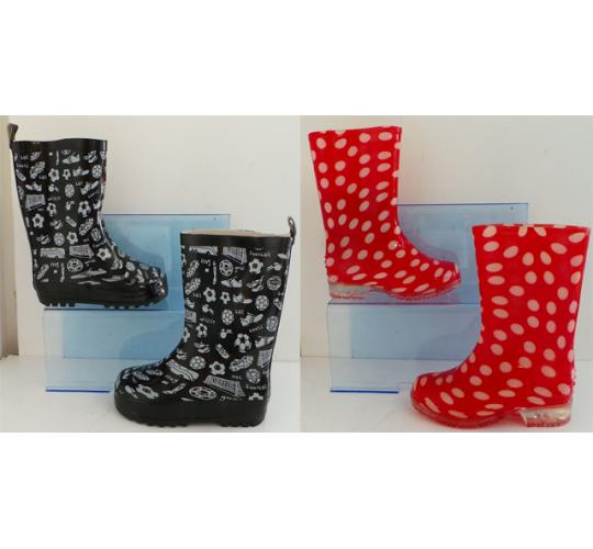 One Off Joblot of 19 Childrens Wellington Boots 2 Styles Sizes 10-3