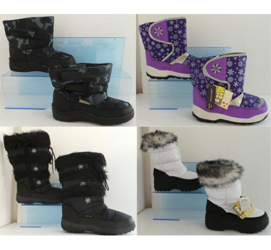 One Off Joblot of 18 Winter Snow Boots Mixed Styles Childrens & Adults