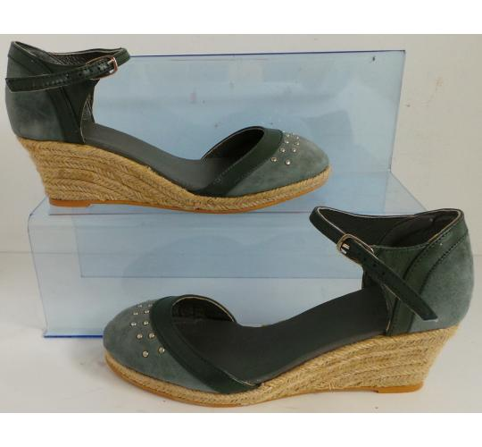 Wholesale Joblot of 5 Womens Vkingas Kate Green Suede Wedge Shoes Sizes 3-7