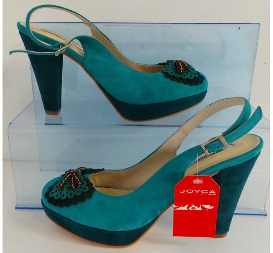 One Off Joblot of 8 Joyca Ladies Two-Tone Blue Suede Evening Shoe Sizes 5-8