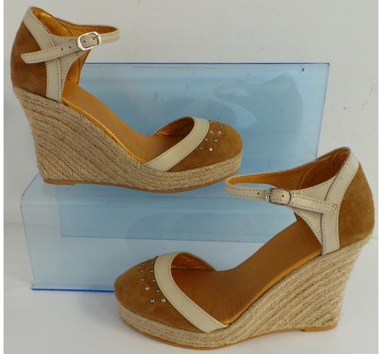 One Off Joblot of 8 Womens Vkingas Kate Tan Suede Wedge Shoes Sizes 3-7