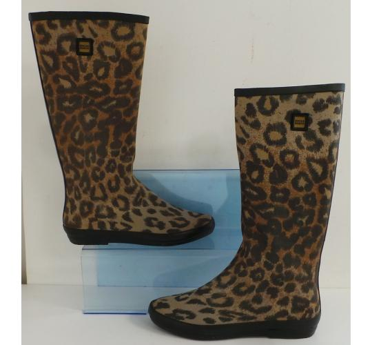 One Off Joblot of 6 Dulce Rubio Ladies Leopard Wellington Boot 2-4