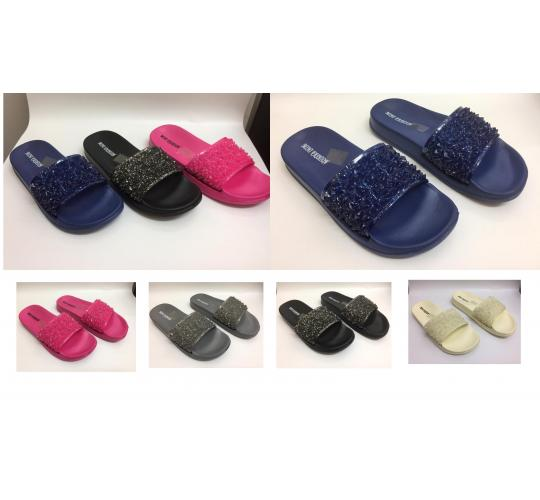 Wholesale Joblot of 36 Ladies Slip On Sliders Flat Mule Slipper Shoes