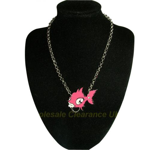 WHOLESALE 50 PUNKYFISH FISH LOGO NECKLACES