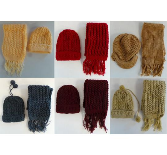 One Off Joblot of 16 Ladies Winter Hat & Scarf Sets 7 Colours
