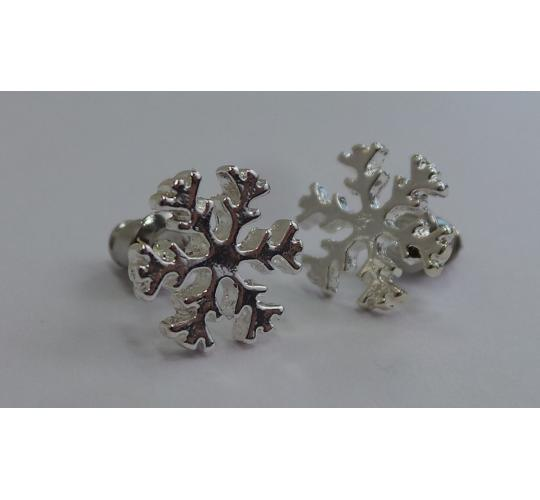 Wholesale Joblot of 20 POM Boutique Silver Plated Snowflake Earrings