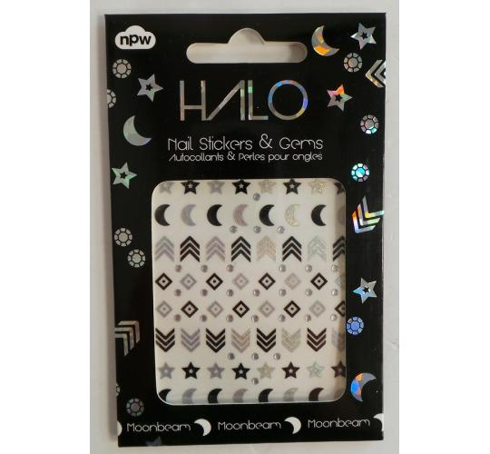 Wholesale Joblot of 50 NPW Halo Nail Art Stickers & Gems - Moonbeam