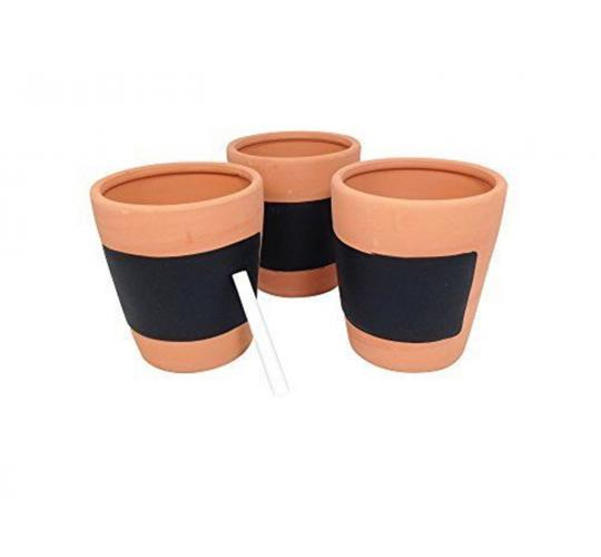 Wholesale Job Lot Box of 12 Gardman Set of Three Terracotta Herb Pots