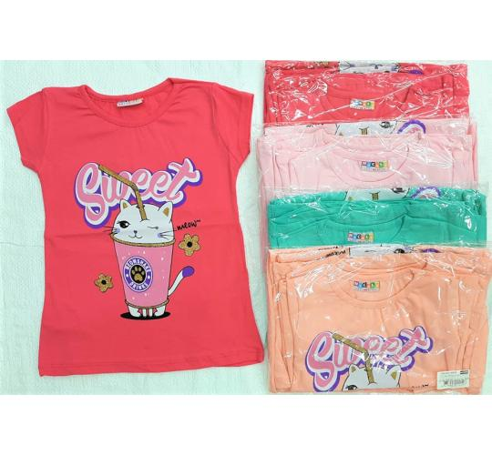 Joblot of 40 Pcs High Quality Girls Sequined T-Shirts, 2 Designs, 5 Colours, 9-10-11-12 Years