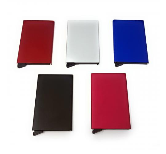 50x Mixed Colour Pop Up RFID Protective Card Holder