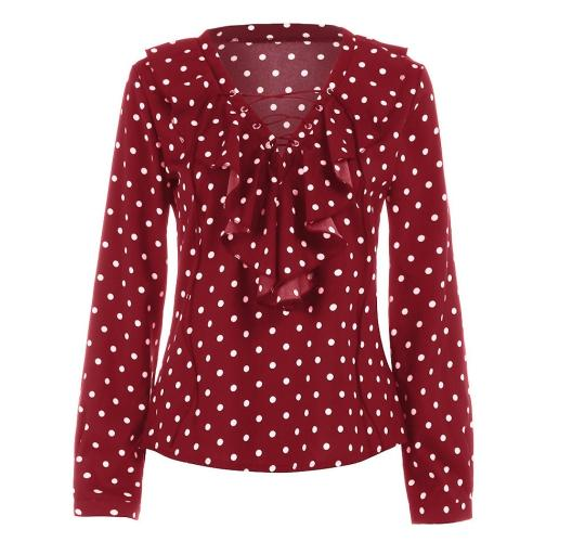 Ladies Polka Dot Blouse x 39 Units!