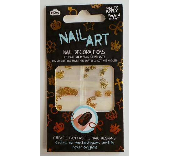 Wholesale Joblot of 50 Packs NPW Nail Art Nail Decorations in Gold - 12 Styles