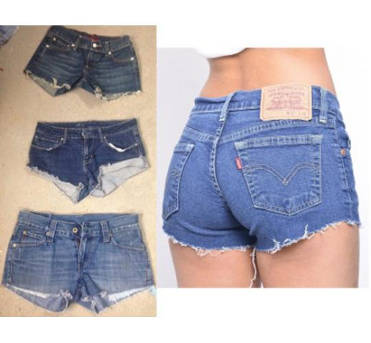 50 x Levi Vintage Denim Jean Womens Levis Shorts Job lot Wholesale SMALL SIZES