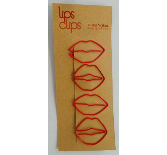 Wholesale Joblot of 100 NPW Lips Clips Paper Clips 4 Page Markers In Each
