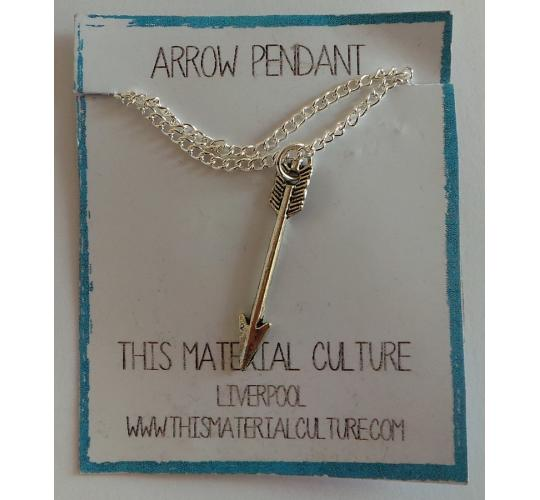 Wholesale Joblot of 20 This Material Culture Arrow Pendant Necklaces