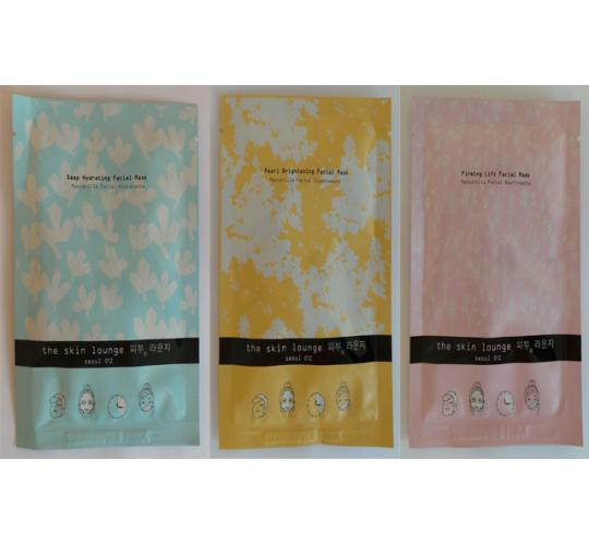 Wholesale Joblot of 50 The Skin Lounge Facial Masks 3 Types Included 25g