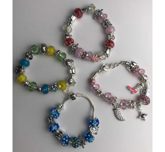 Wholesale Joblot of 10 Ladies Charm Bracelets In Five Designs