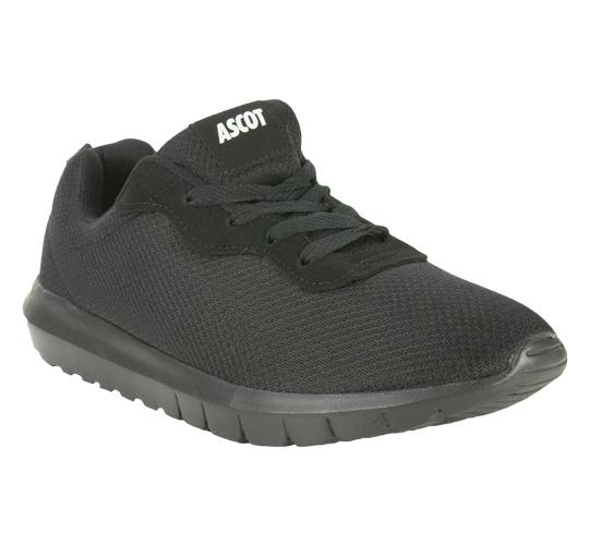 Ascot Mens Style Bronx in Black Lightweight Trainer