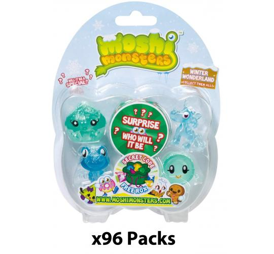 Job Lot of 96x Packs of 5 Moshi Monsters Winter Wonderland Original Series Moshlings Collectible Figures