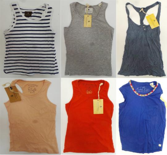 One Off Joblot of 20 Scotch R'Belle Girls Vest Tops Assorted Styles 6-10 Years