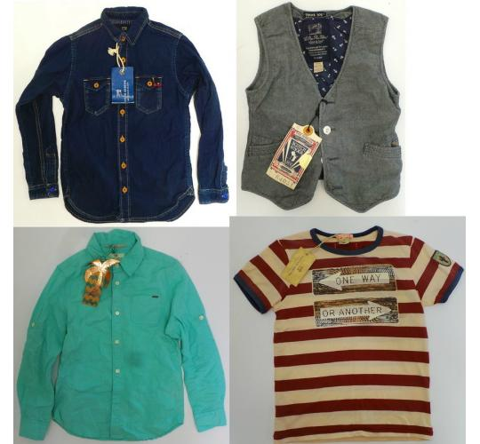 One Off Joblot of 4 Scotch Shrunk Boys Clothing - Shirts, Top & Waistcoat