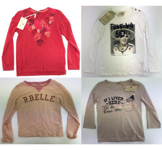 One Off Joblot of 10 Scotch R'Belle Girls Print/Graphic Long Sleeve Tops