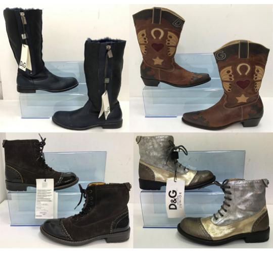 One Off Joblot of 4 Dolce & Gabbana Girls Boots 4 Styles Size 12