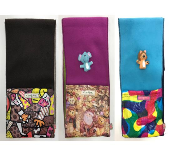 Wholesale Joblot of 10 Childrens Cloppies Scarves 3 Styles Inc Toys SCA12