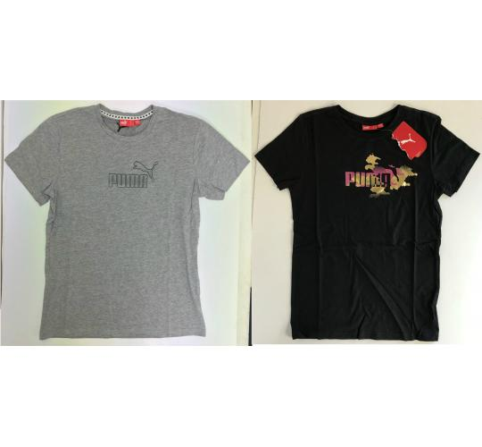 One Off Joblot of 12 Puma Womens T-Shirts in 2 Styles Sizes 10-16
