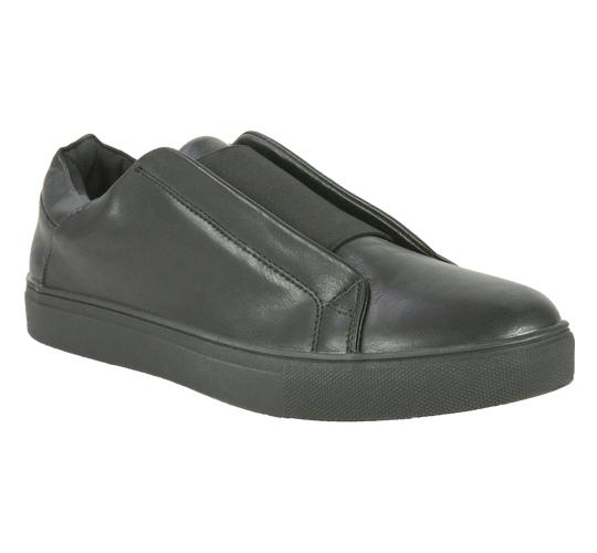 Ascot Mens Style Carter, Slip On Cup Sole Trainer in Black
