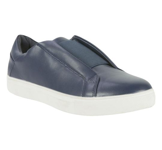 Ascot Mens Style Carter, Slip On Cup Sole Trainer in Navy