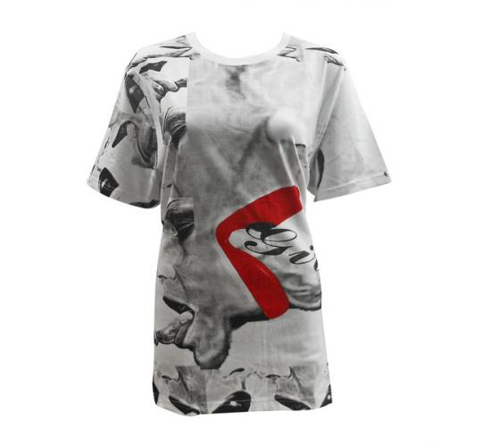 Joblot of 5 Ladies 'Girls' Fresh Flames Red & Grey T-Shirts