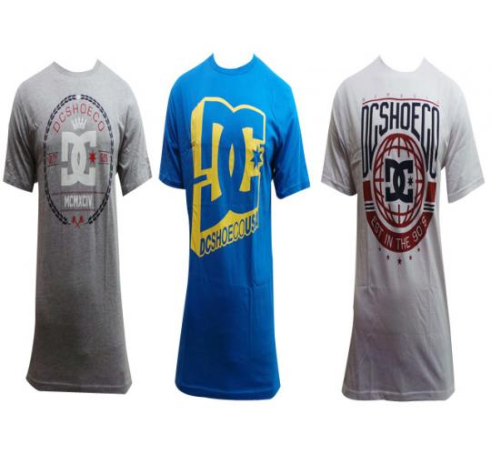 Wholesale Joblot of 10 Mens DC Skate T-Shirts Assorted Designs Sizes S-XXL