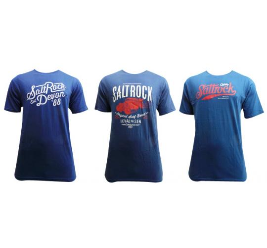 Wholesale Joblot of 10 Mens Saltrock Blue T-Shirts 4 Styles Available S-XXL